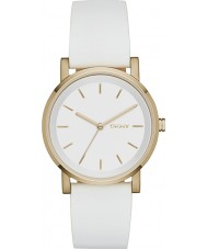 DKNY NY2340 Ladies Soho White Leather Strap Watch
