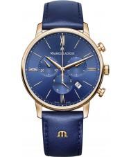 Maurice Lacroix EL1098-PVP01-411-1 Mens Eliros Blue Leather Strap Chronograph Watch