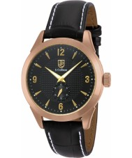 S Coifman SC0114 Mens Black Leather Strap Watch