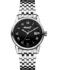 Ingersoll INQ030BKSL Mens Grafton Black Steel Watch