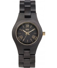 WeWOOD CRISSBLKGLD Criss Black Wood Bracelet Watch