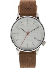 Komono KOM-W2013 Mens Winston Brogue Walnut Leather Strap Watch