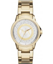 Armani Exchange AX4321 Ladies Urban Gold Plated Stone Set Watch
