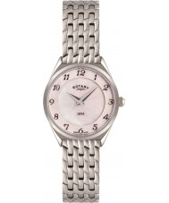 Rotary LB08000-18 Ladies Ultra Slim Silver Tone Steel Watch