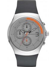 Skagen SKW6158 Mens Jannik Chronograph Black Silicone Strap Watch