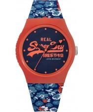 Superdry SYL169UCO Ladies Urban Floral Printed Coral Blue Watch