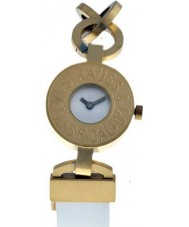 Levis L019GI-3 Ladies White Dial Gold Plated Steel Case Strap Watch