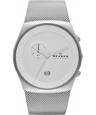 Skagen SKW6071 Mens Klassik White and Steel Chronograph Watch