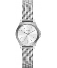 DKNY NY2488 Ladies Parsons Silver Steel Mesh Bracelet Watch