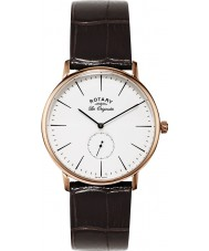 Rotary GS90053-02 Mens Les Originales Rose Gold Brown Watch