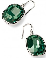 Charles Conrad Ladies Emerald Green Swarovski Graphic Stone Earrings