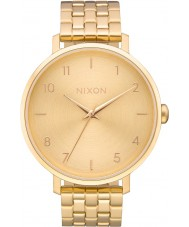 Nixon A1090-502 Ladies Arrow All Gold Steel Bracelet Watch