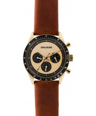 Zadig and Voltaire ZVM116 Master Brown Leather Chronograph Watch