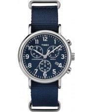 Timex TW2P71300 Weekender Slip Thru Blue Chrono Watch