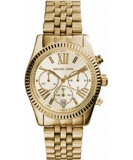 Michael Kors MK5556 Ladies Lexington Gold Plated Chronograph Watch