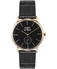 Rotary GS90053-04 Mens Les Originales Rose Gold Black Watch