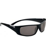 Serengeti Fasano Shiny Black Grey Polarized PhD CPG Sunglasses