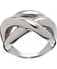 Edblad Ladies Tigris Silver Tone Ring