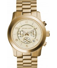 Michael Kors MK8077 Gold Plated Chronograph Watch