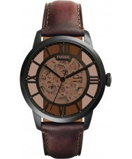 Fossil ME3098 Mens Townsman Brown Leather Automatic Watch