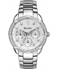 Bulova 96R195 Ladies Diamond Silver Steel Bracelet Chronograph Watch