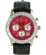 Krug Baümen 400210DS Air Traveller Red Dial Black Strap
