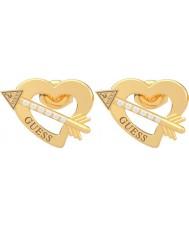 Guess UBE79122 Ladies Across My Heart Earrings