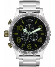 Nixon A083-2222 Mens 51-30 Silver Steel Bracelet Chronograph Watch