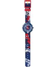 Flik Flak FLSP001 Boys Spider-Cycle Blue Watch
