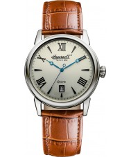 Ingersoll INQ001GDSL Mens Tan Leather Strap Watch