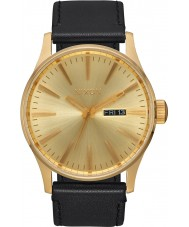 Nixon A105-510 Mens Sentry Black Leather Strap Watch