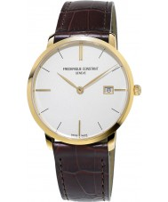 Frederique Constant FC-220V5S5 Slimline Gents Brown Leather Strap Watch
