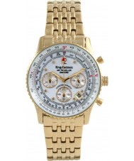 Krug Baümen 400101DS Air Traveller White Dial Steel-Gold Strap