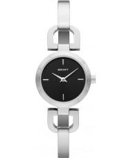 DKNY NY8541 Ladies Reade Black Silver Watch