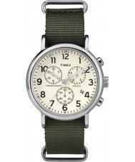 Timex TW2P71400 Weekender Slip Thru Green Chrono Watch