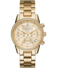 Michael Kors MK6356 Ladies Ritz Gold Plated Chronograph Watch