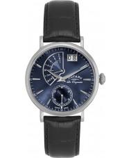 Rotary GS90085-05 Mens Les Originales Big Date Steel Black Watch