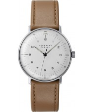 Junghans 027-3701-00 Max Bill Tan Brown Handwinding Mechanical Watch