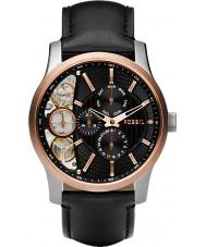 Fossil ME1099 Mens Twist Black Leather Strap Watch