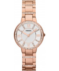 Fossil ES3284 Ladies Virginia Rose Gold Plated Bracelet Watch