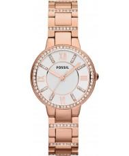 Fossil ES3284 Ladies Virginia Rose Gold Steel Watch