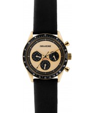 Zadig and Voltaire ZVM117 Master Black Leather Chronograph Watch