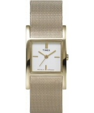 Timex T2J921 Ladies Pearl Gold Mesh Watch