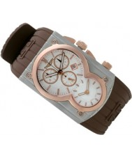Triumph 3040-07 Trident Rose Gold Brown Strap Swiss Movement