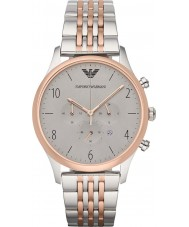 Emporio Armani AR1864 Mens Classic Chronograph Steel and Rose Gold Watch