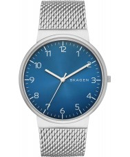 Skagen SKW6164 Mens Ancher Silver Mesh Strap Watch