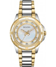 Bulova 98S140 Ladies Two Tone Steel Bracelet Watch