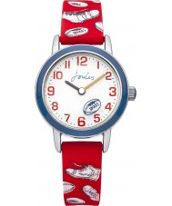 Joules JS003 Boys Red Rugby Printed Silicone Watch
