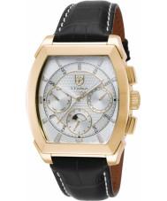 S Coifman SC0088 Mens Black Leather Strap Watch