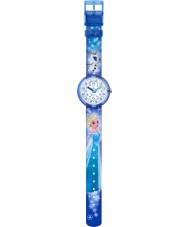 Flik Flak FLNP023 Girls Disney Frozen Elsa and Olaf Multicoloured Watch